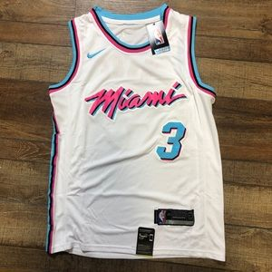 NWT Dwayne Wade Miami Heat NBA City Jersey Small